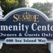 Amenity Center Sign